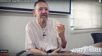 Entrevista al P. Josep F. Mària Serrano SJ, economista de ESADE