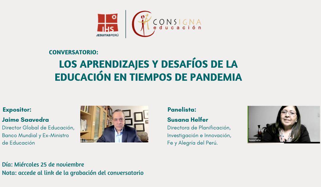 Consigna organizó el conversatorio virtual: «Los aprendizajes y desafíos de la educación en tiempos de pandemia»