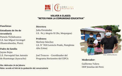 Conversatorio «Volver a clases: «Retos para la comunidad Educativa»